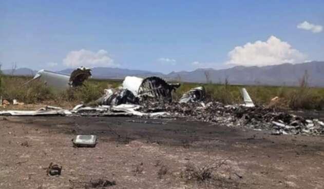 Restos de aeronave en México