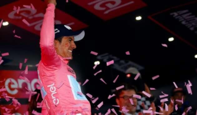 Richard Carapaz, ciclista ecuatoriano al servicio de Movistar Team