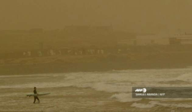 Tormenta de arena del desierto del Sahara