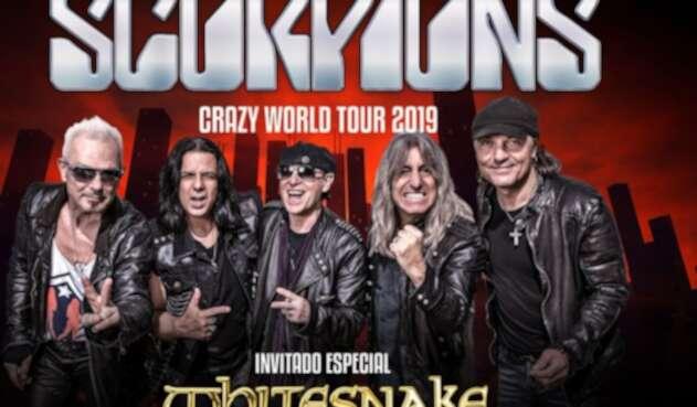 Publicidad oficial de Scorpions y Whitesnake en Colombia
