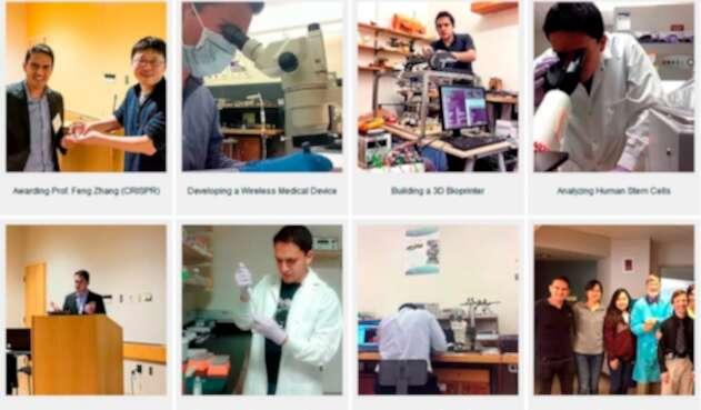 Sebastián Palacios, ingeniero electrónico colombiano, en MIT