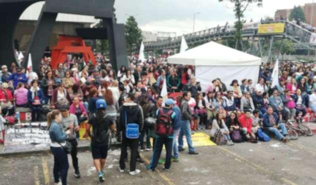 Paro de maestros en Bogotá
