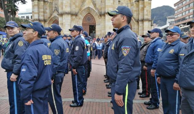 Empresas de seguridad privada refrendan pacto con la Policía de Bogotá.