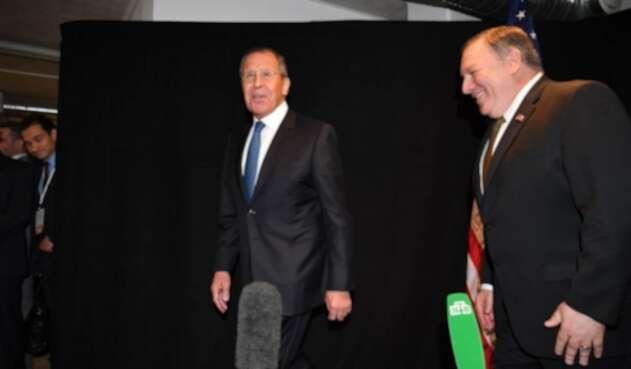 Serguéi Lavrov y Mike Pompeo.