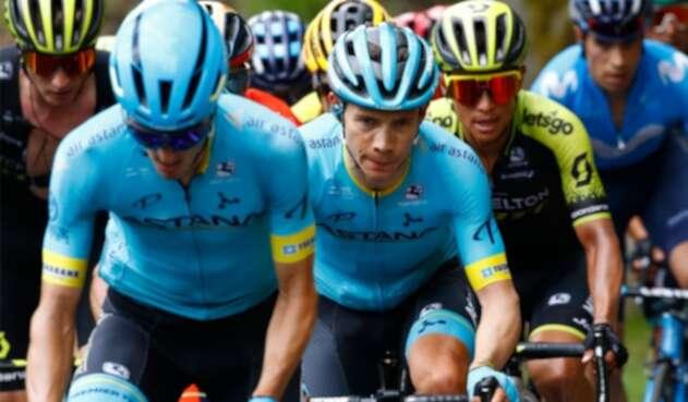 Superman López, líder del Astana en el Giro de Italia
