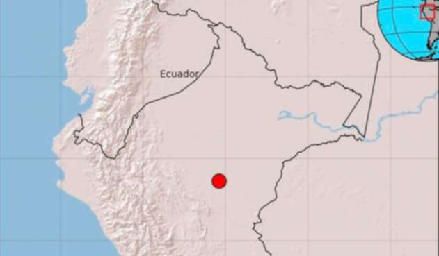 Imagen del Servicio Geológico sobre el temblor de este domingo 26 de mayo