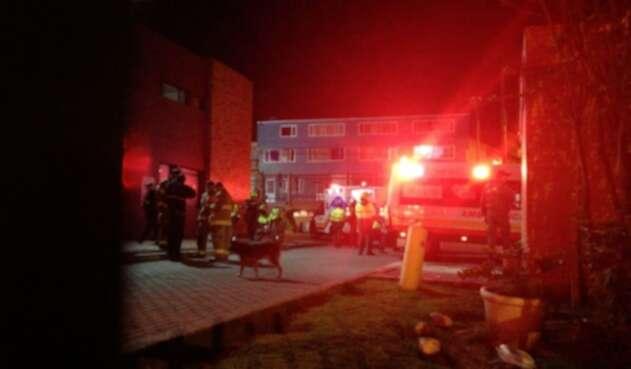 Incendio en la Estación de Policía de Usme