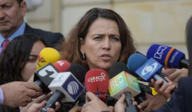 Ministra del Interior, Nancy Patricia Gutiérrez