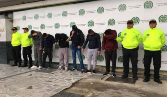Desarticulan banda delincuencial en Bogotá