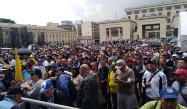 Protesta de militares y policías en retiro