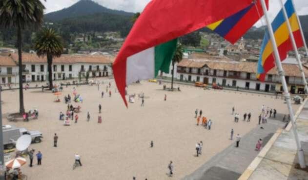 Panorámica de la Plaza Central de Zipaquirá