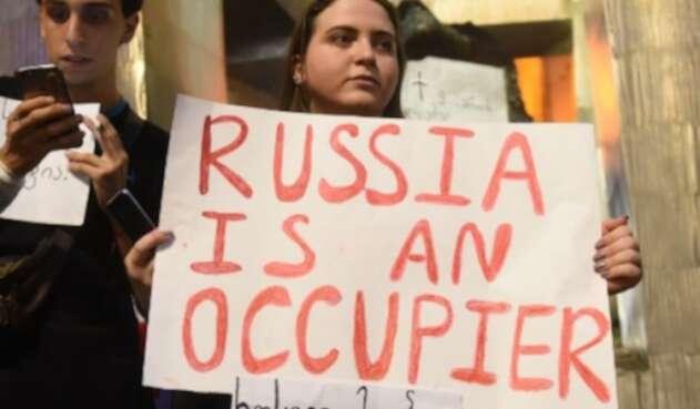 Rusia Georgia manifestaciones