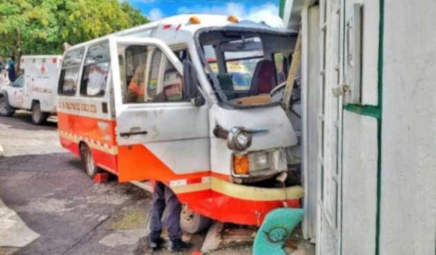 Diez lesionados tras accidente en Tunja