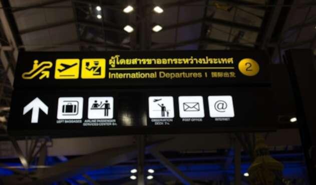 Foto de referencia de un aeropuerto
