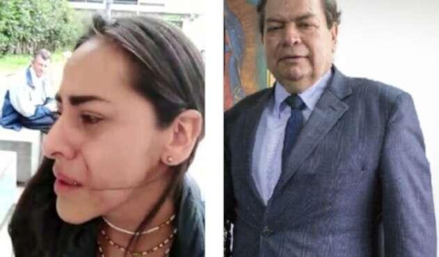 Maryory Andrea Carvajal Suárez, periodista agredida por Gustavo Castro (der)