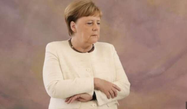 Ángela Merkel, canciller alemana, durante un acto en Berlín