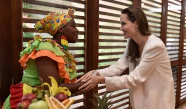 Angelina Jolie en Colombia