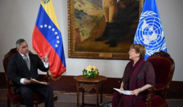 Bachelet se reunió con altos funcionarios en su segundo día en Venezuela