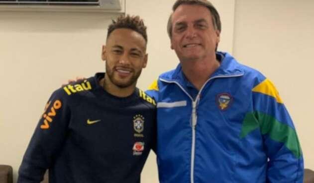 Jair Bolsonaro y Neymar