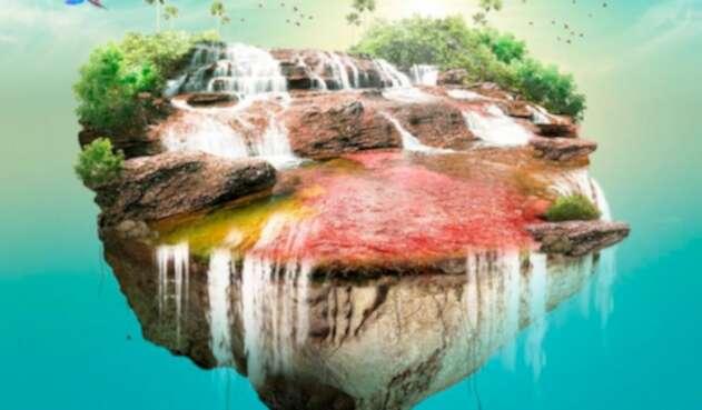 La imagen de Cormacarena y Parques Nacionales Naturales de Colombia para promocionar el relanzamiento de Caño Cristales