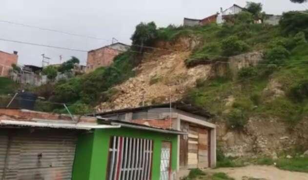 Deslizamiento en Soacha deja decenas de viviendas afectadas