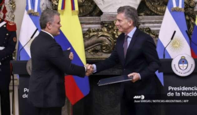 Iván Duque y Mauricio Macri reunidos en Argentina
