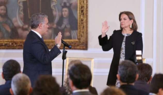 La exmagistrada Margarita Cabello se posesionó este martes como nueva ministra de Justicia