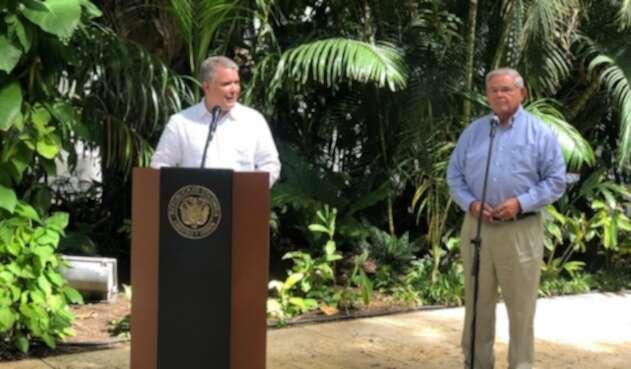 Así lo anunció el mandatario de los colombiano luego de sostener una reunión con el senador estadounidense Bob Menendez.