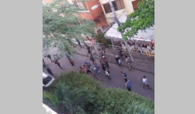 Disturbios y enfrentamiento entre hinchas en El Rodadero
