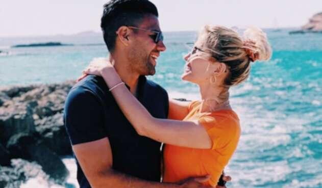 Falcao y su esposa Lorelei Tarón