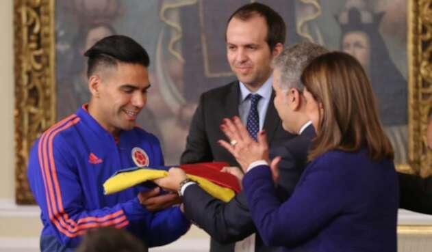Radamel Falcao, capitán de la Selección Colombia.