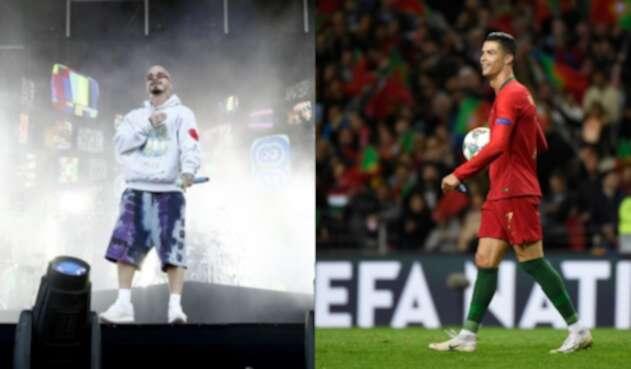 Cristiano Ronaldo estuvo en concierto de J Balvin