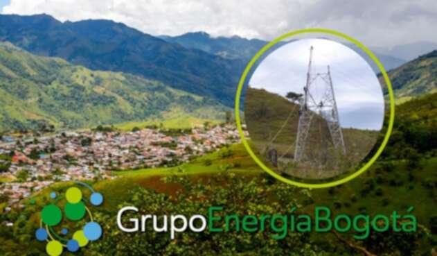 Foto del Grupo de Energía de Bogotá publicada en su cuenta en Facebook