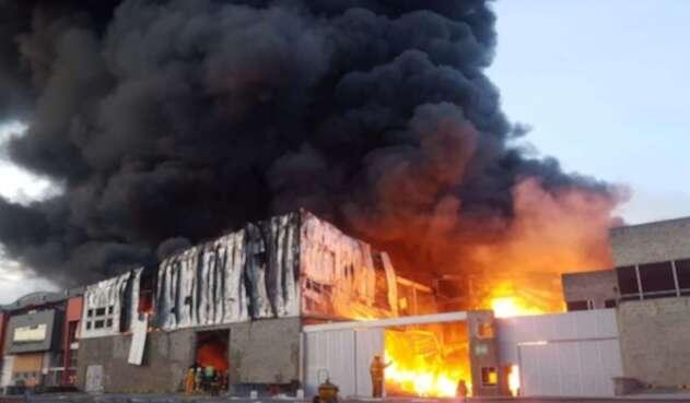 Incendio en Funza