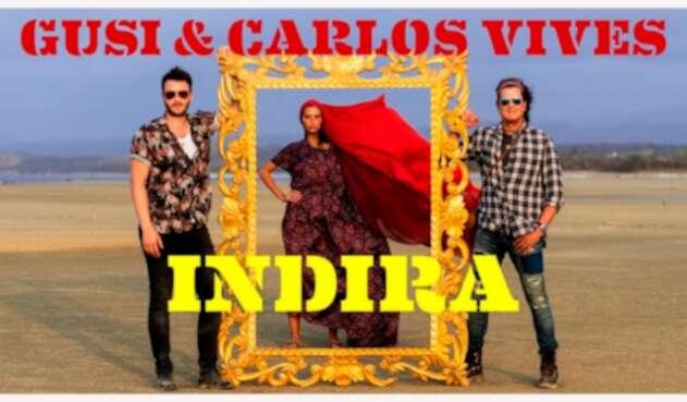 Gusi, Melissa Varón y Carlos Vives promocionando el video de Indira