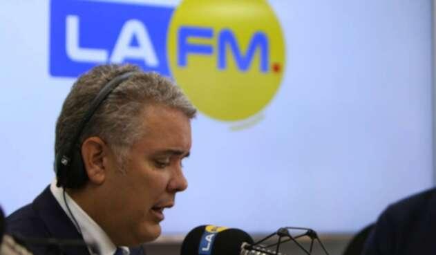 Iván Duque en La FM
