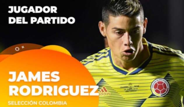 James Rodríguez, figura del partido.