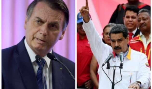 Jair Bolsonaro y Nicolás Maduro