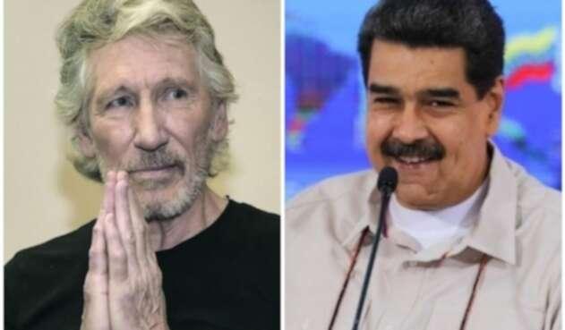 Nicolás Maduro y Roger Waters