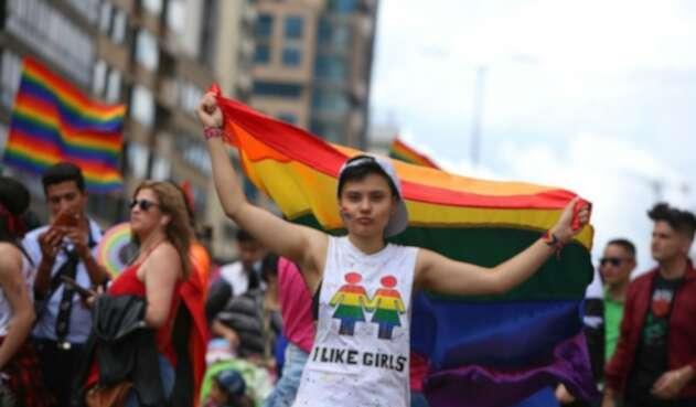 Marcha gay en Bogotá