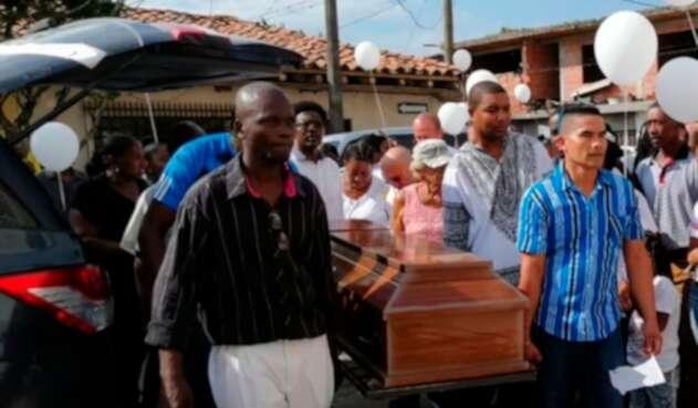 Las honras fúnebres a María del Pilar Hurtado en Puerto Tejada (Cauca)