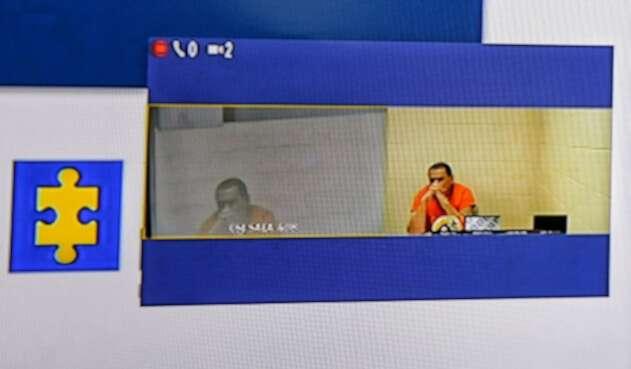 Marlon Marín, sobrino de Iván Márquez, declarando por videoconferencia desde Estados Unidos