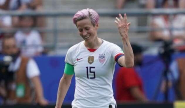 Megan Rapinoe, cocapitana de la selección de fútbol femenino de EE.UU.