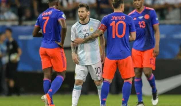 Lionel Messi en partido Colombia vs Argentina de la Copa América
