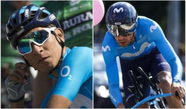 Nairo Quintana y Mikel Landa - Movistar Team