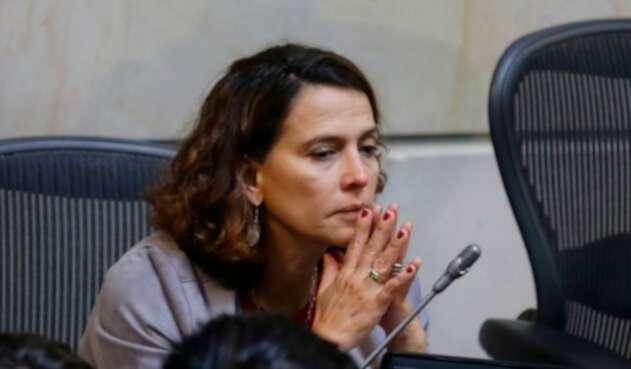 Nancy Patricia Gutiérrez, exministra del Interior, en el Senado de la República, en Bogotá
