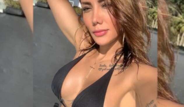 La modelo colombiana cumple cuatro meses junto al jugador