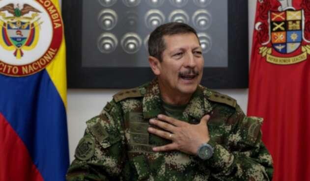 El general Nicacio Martínez, comandante del Ejército