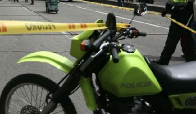 Policías de Bogotá en caso de fleteo