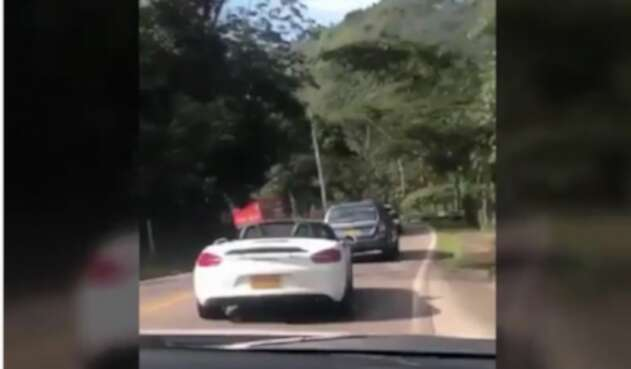 Porsche accidentado en Cundinamarca